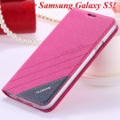 S5 S6 Original Brand Case Luxury Pu Leather Cover For Samsung Gala 32266601588-3-S5 hot pink
