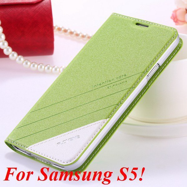 S5 S6 Original Brand Case Luxury Pu Leather Cover For Samsung Gala 32266601588-4-S5 green