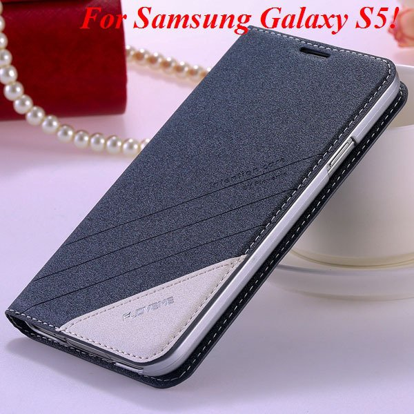 S5 S6 Original Brand Case Luxury Pu Leather Cover For Samsung Gala 32266601588-6-S5 gray