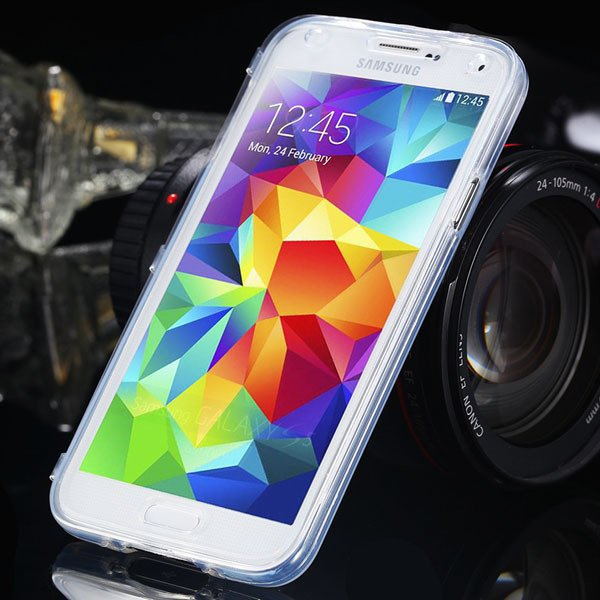S5 Clear Case Flip Tpu Cover For Samsung Galaxy S5 Sv I9600 Deluxe 1869499191-4-white