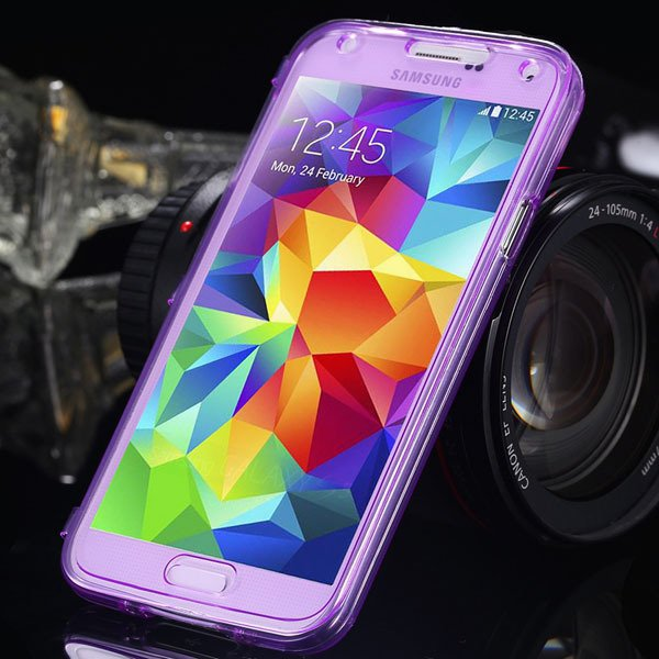 S5 Clear Case Flip Tpu Cover For Samsung Galaxy S5 Sv I9600 Deluxe 1869499191-8-purple