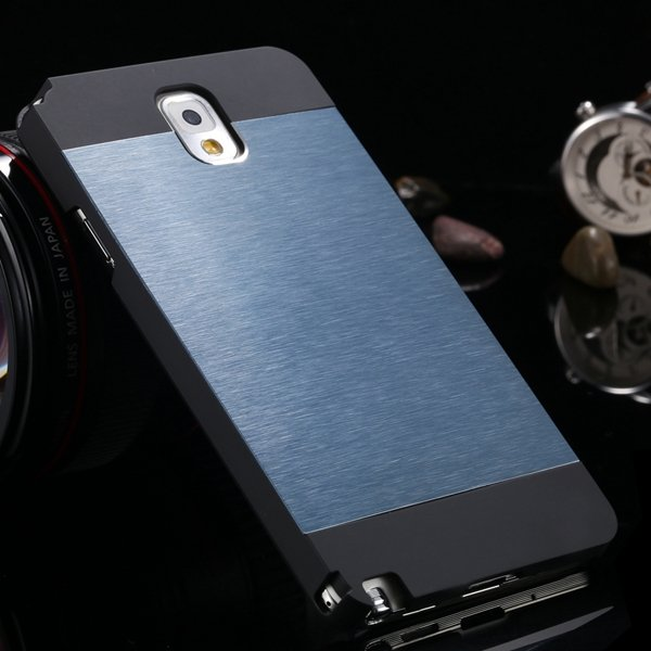 Note 3 Aluminum Case Metal Brush Hard Cover For Samsung Galaxy Not 1893304496-5-navy blue