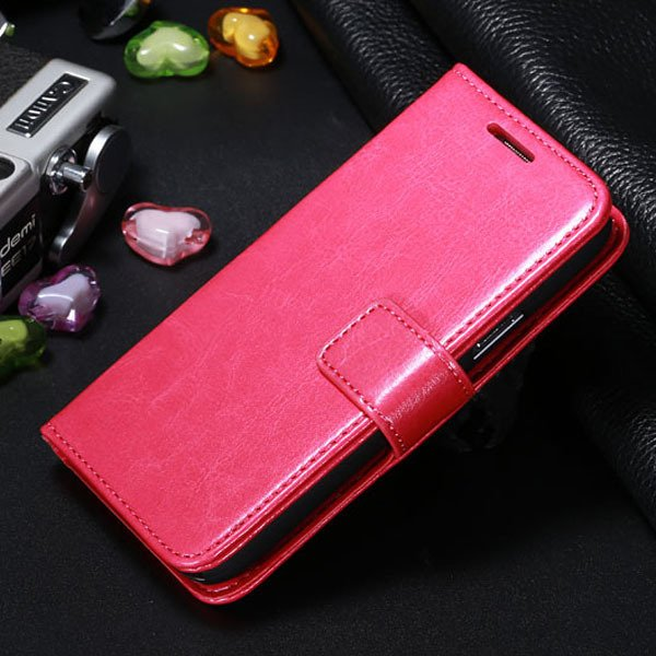 S4 Mini Pu Leather Case For Samsung Galaxy S4 Mini I9190 Full Wall 1771942507-4-hot pink