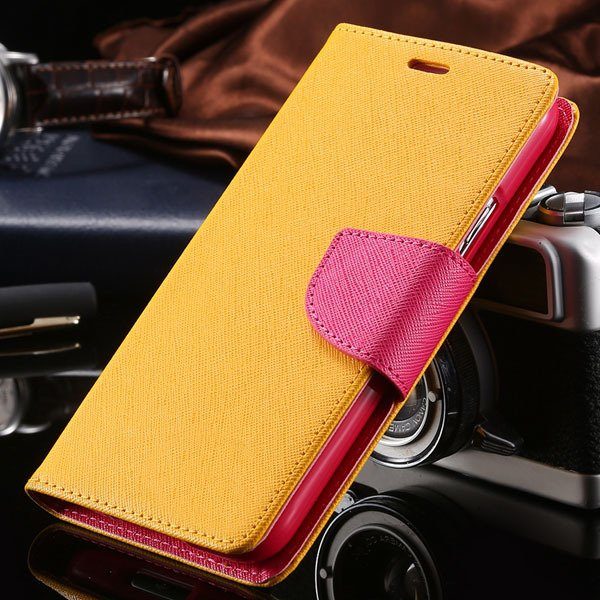 For Note 2 Filp Pu Leather Case For Samsung Galaxy Note 2 Ii N7100 1810412176-7-yellow