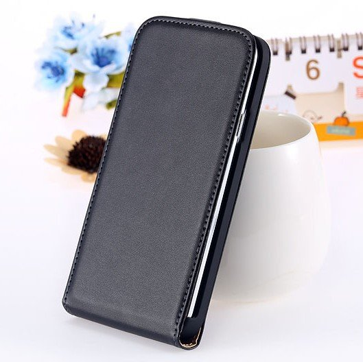 S5 Genuine Leather Case Flip Cover For Samsung Galaxy S5 Sv I9600  1738506719-1-black