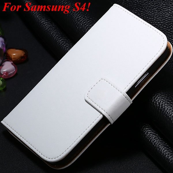 S3 S4 Genuine Leather Stand Case For Samsung Galaxy S3 Siii I9300  1335833839-10-white for S4