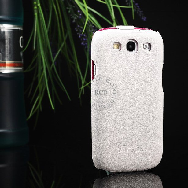 Hot 100% Cowhide Leather Cover For Samsung Galaxy S3 I9300 Genuine 1064135466-2-White