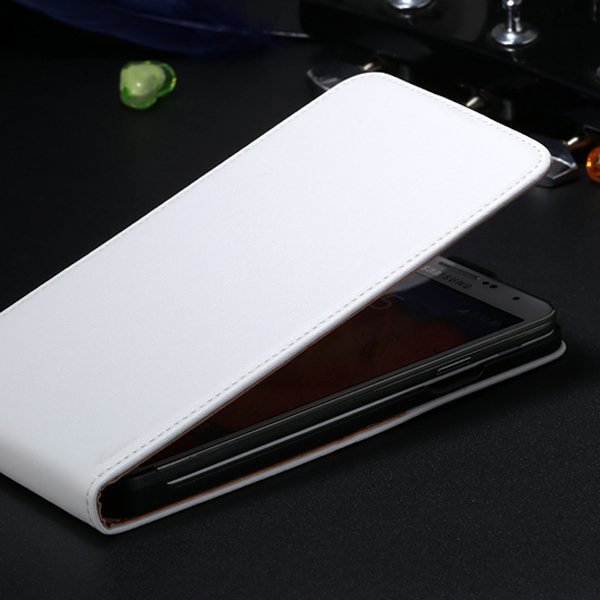 New For Note 3 Genuine Leather Flip Case For Samsung Galaxy Note 3 1855149406-2-white