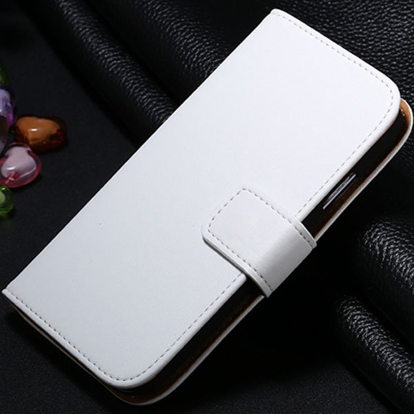 S4 Genuine Leather Case Flip Wallet Cover For Samsung Galaxy S4 Si 1772230456-2-white