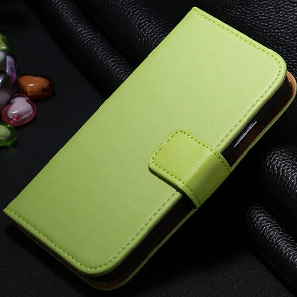 S4 Genuine Leather Case Flip Wallet Cover For Samsung Galaxy S4 Si 1772230456-4-green