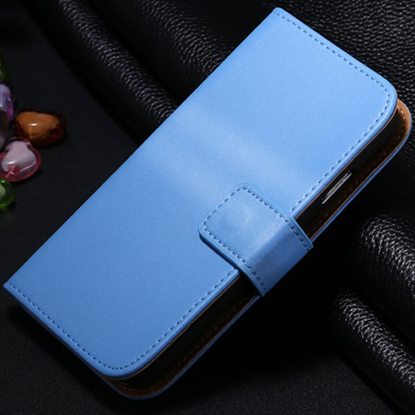 S4 Genuine Leather Case Flip Wallet Cover For Samsung Galaxy S4 Si 1772230456-7-blue