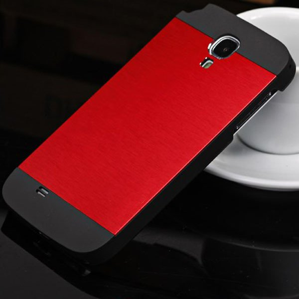 S4 Aluminum Metal Brush Back Case For Samsung Galaxy S4 Siv I9500  32237195497-2-red