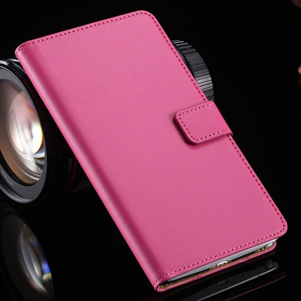 For Note 4 Genuine Leather Case Luxury Flip Wallet Cover For Samsu 32217799011-4-hot pink