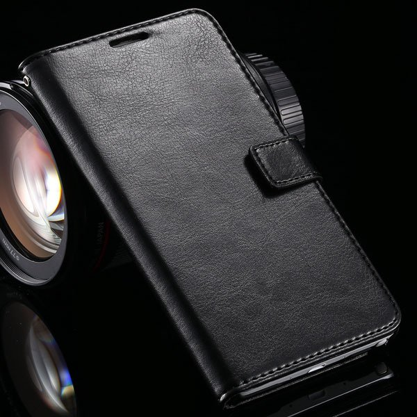 For Note 4 Pu Leather Case Full Wallet Stand Cover For Samsung Gal 32218516680-1-black
