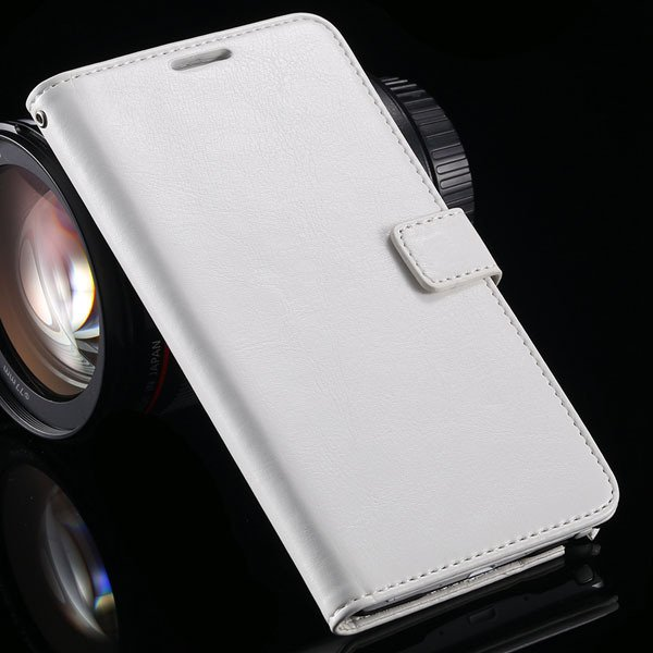 For Note 4 Pu Leather Case Full Wallet Stand Cover For Samsung Gal 32218516680-2-white