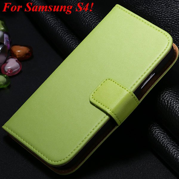 S4 S5 Flip Genuine Leather Case For Samsung Galaxy S5 I9600 For Ga 1820394140-4-green for S4