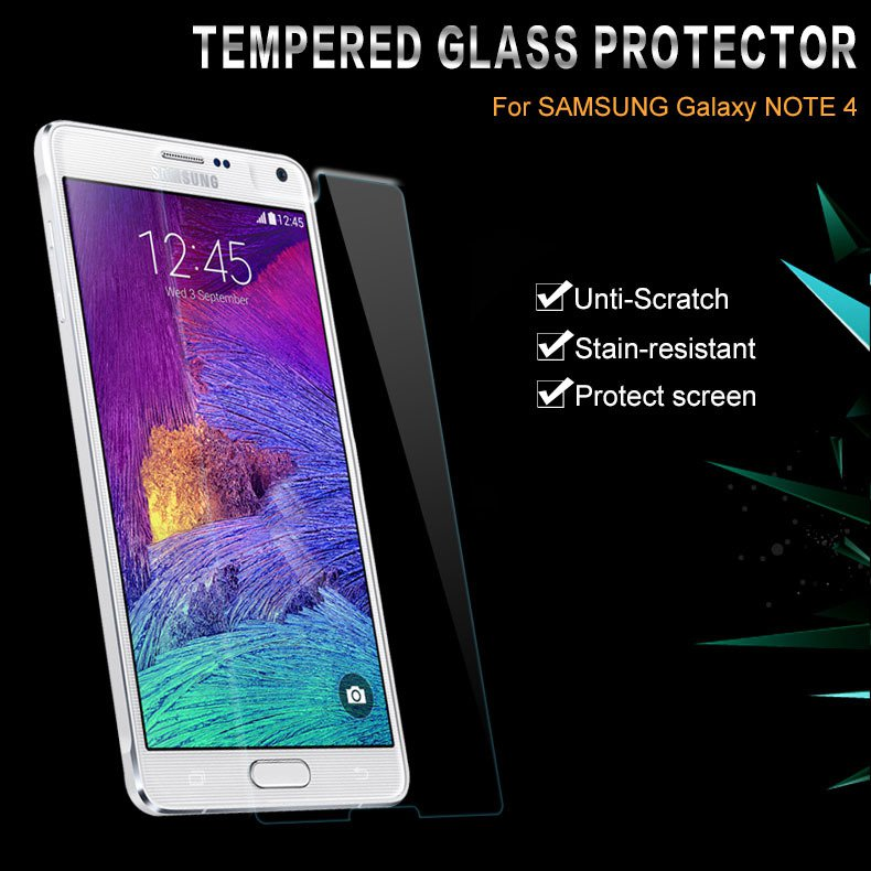 For Samsung Note 4 Glass Protector Clear Tempered Glass Protect Fi 32250057779-1-