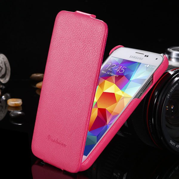 Brand New Genuine Leather Case For Samsung Galaxy S5 Sv I9600 Retr 1893446774-4-hot pink