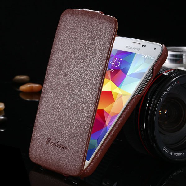 Brand New Genuine Leather Case For Samsung Galaxy S5 Sv I9600 Retr 1893446774-5-brown