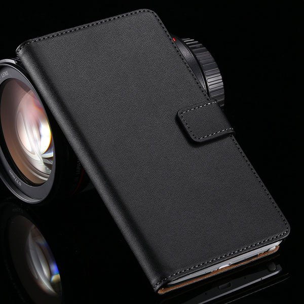 For Note 4 Luxury Genuine Leather Case Full Protect Cover For Sams 32217742322-1-black