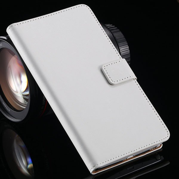 For Note 4 Luxury Genuine Leather Case Full Protect Cover For Sams 32217742322-2-white