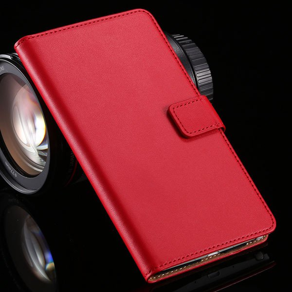 For Note 4 Luxury Genuine Leather Case Full Protect Cover For Sams 32217742322-3-red