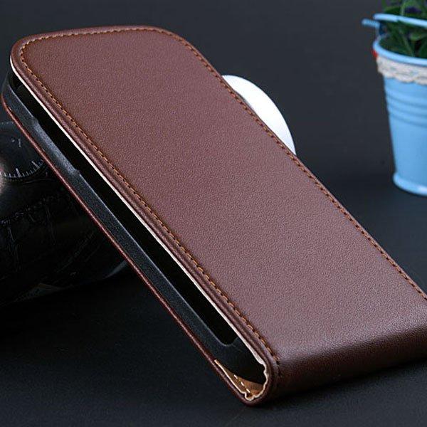 S4 Mini Flip Leather Case For Samsung Galaxy S4 Mini I9195 I9190 G 32240035795-3-brown