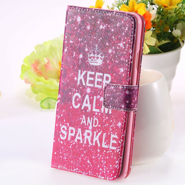 Matte Grain Full Wallet Pu Leather Case For Samsung Galaxy Note 3  1925879807-5-hot pink crown