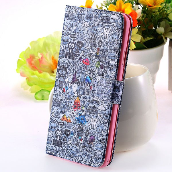 Matte Grain Full Wallet Pu Leather Case For Samsung Galaxy Note 3  1925879807-6-gray wizard