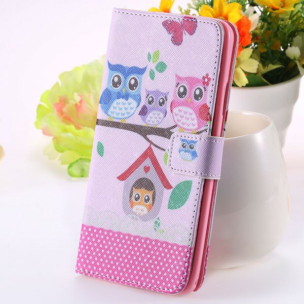 Matte Grain Full Wallet Pu Leather Case For Samsung Galaxy Note 3  1925879807-8-owl on tree