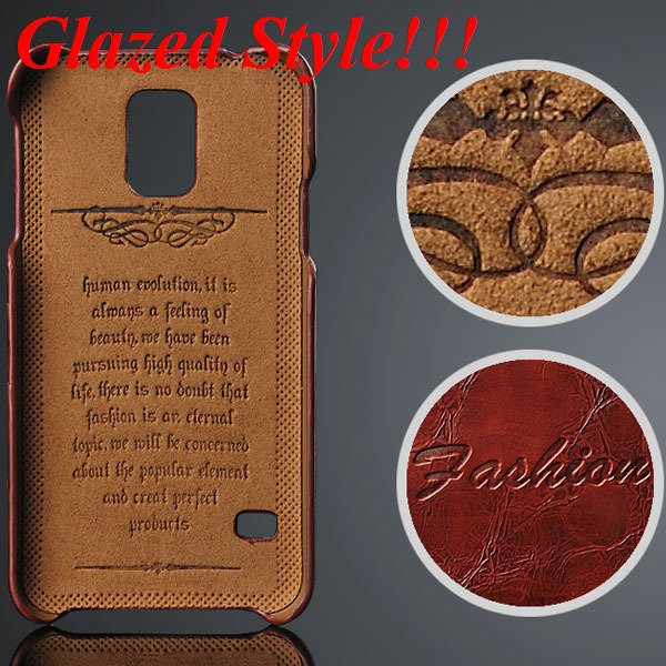S5 Card Slot Back Cover For Samsung Galaxy S5 I9600 Grease Glazed  32237404056-1-brown