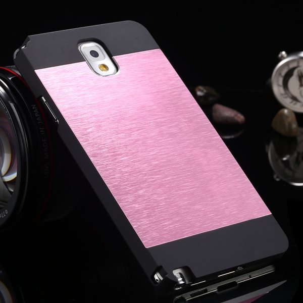 For Note 3 Aluminum Metal Brush Case For Samsung Galaxy Note 3 Iii 1893254282-1-black and pink