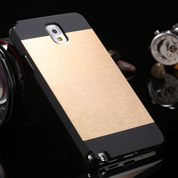 For Note 3 Aluminum Metal Brush Case For Samsung Galaxy Note 3 Iii 1893254282-4-black and gold
