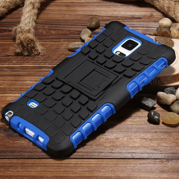 For Note 4 Heavy Duty Case Armor Cover For Samsung Galaxy Note 4 I 32273909003-6-blue