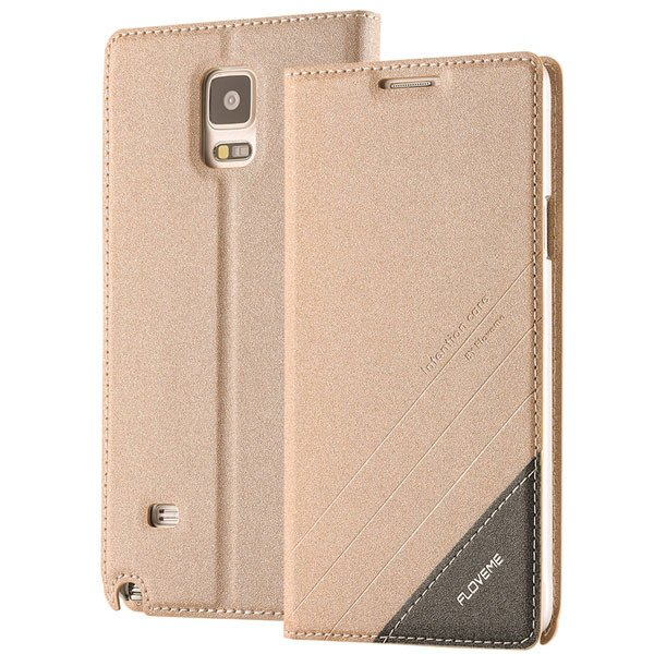 For Note 4 Magnetic Flip Case Original Pu Leather Handmade Cover F 32266173439-5-gold