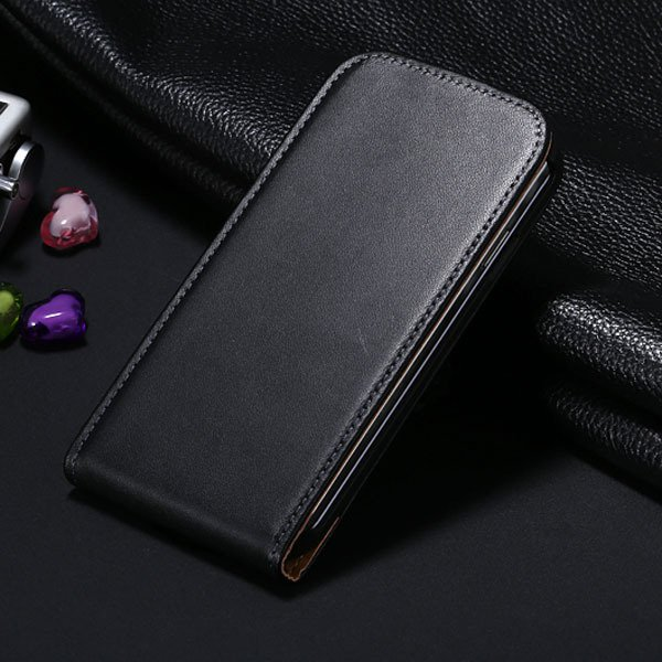 S4 Genuine Leather Case Flip Vertical Cover For Samsung Galaxy S4  1790455093-1-black