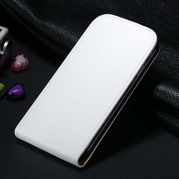 S4 Genuine Leather Case Flip Vertical Cover For Samsung Galaxy S4  1790455093-5-white