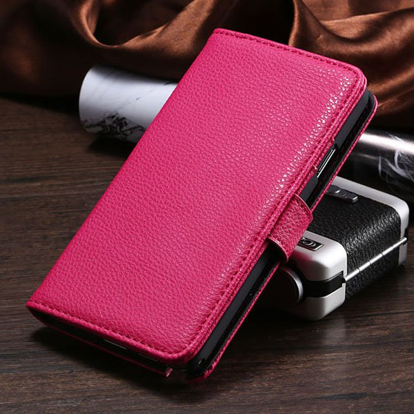 New Taste Flip Wallet Case For Samsung Galaxy Note 3 Iii N9000 N72 1925281934-2-hot pink