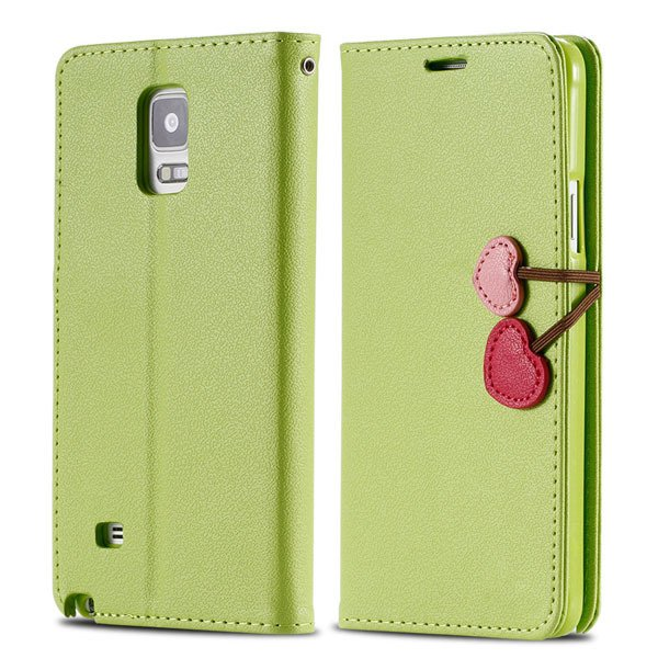 Heart Magnetic Buckle Flip Case For Samsung Galaxy Note 4 Cell Pho 32242580594-1-green
