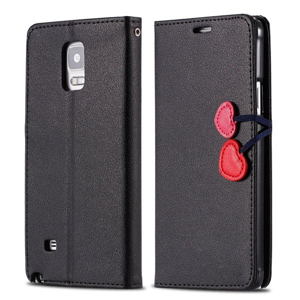 Heart Magnetic Buckle Flip Case For Samsung Galaxy Note 4 Cell Pho 32242580594-2-black