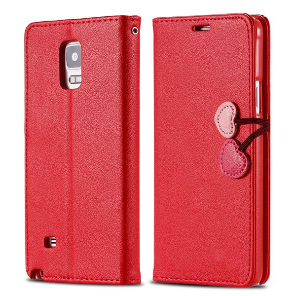 Heart Magnetic Buckle Flip Case For Samsung Galaxy Note 4 Cell Pho 32242580594-4-red