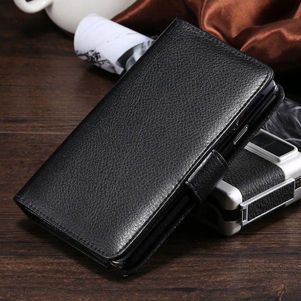 Lichi Pattern Pu Leather Case For Samsung Galaxy Note 3 Iii N9000  1783983487-1-black