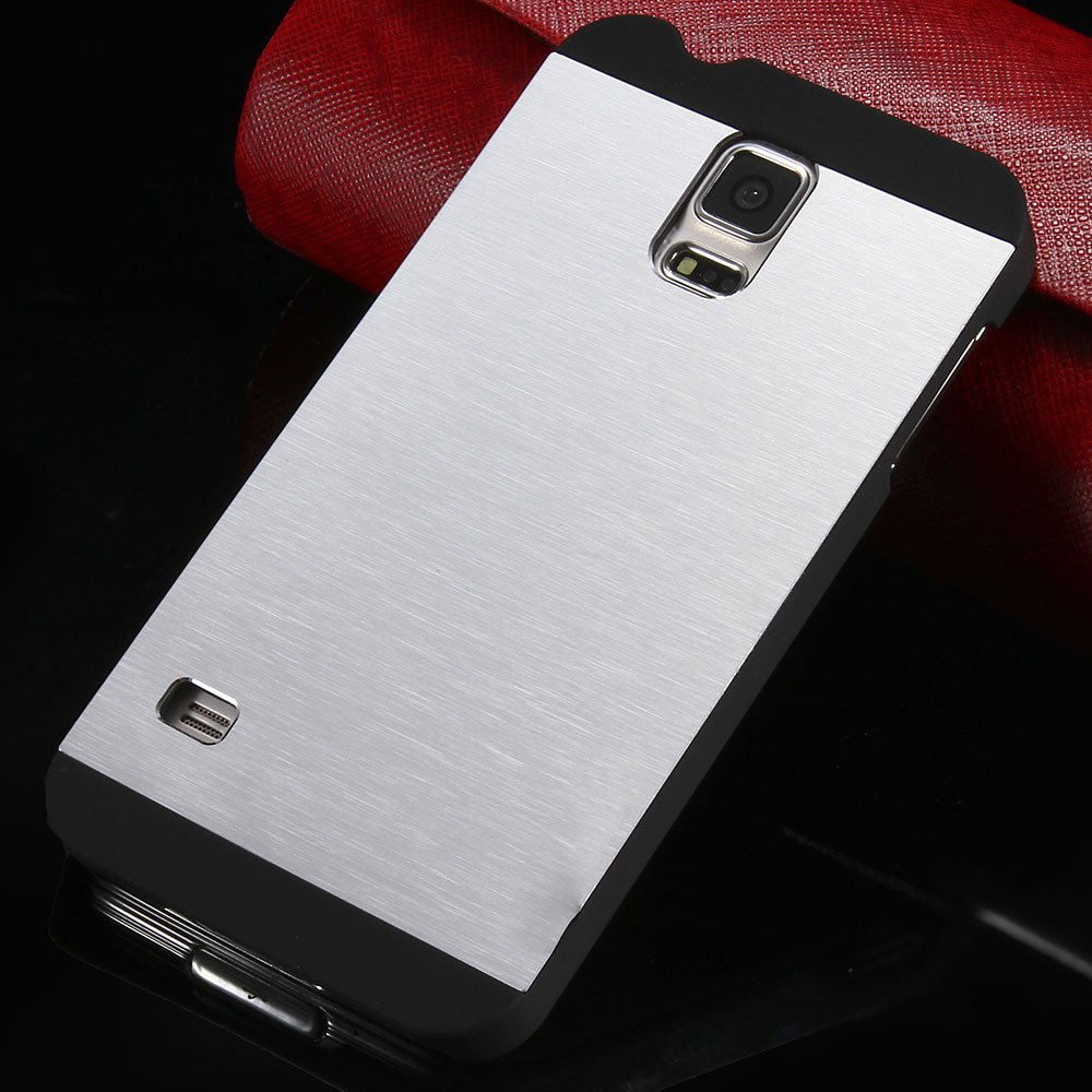 S5 Deluxe Slim Case Aluminum Metal Brush Back Cover For Samsung Ga 32251030854-4-silver
