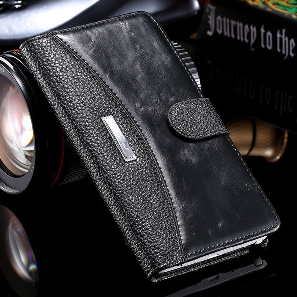 Bussiness Fashion Full Cover For Samsung Galaxy Note 4 N9100 Leath 32249447832-1-black