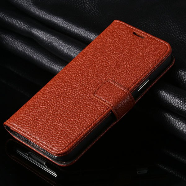 Hot Pu Leather Case For Samsung Galaxy S5 Siv I9600 Flip Cover Lit 1851240878-5-brown