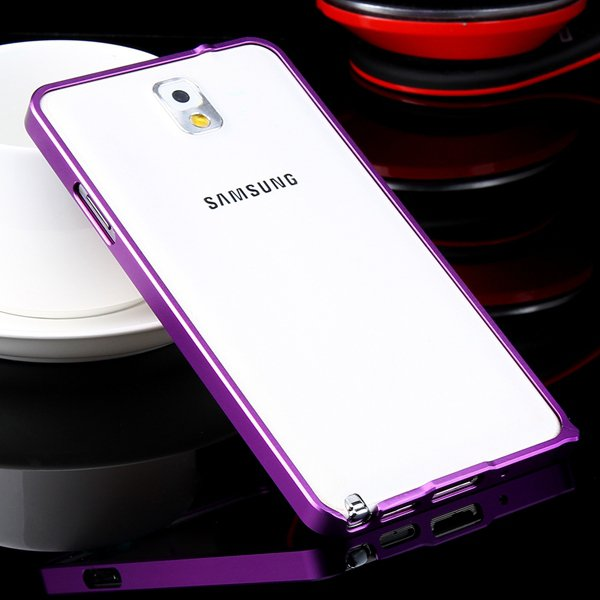 Luxury 0.7Mm Ultra Thin Slim Metal Frame Bumper For Samsung Galaxy 32247631233-5-purple