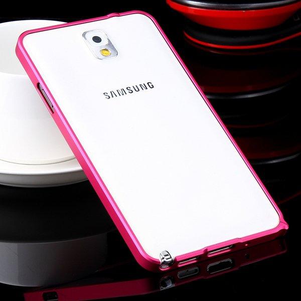 Luxury 0.7Mm Ultra Thin Slim Metal Frame Bumper For Samsung Galaxy 32247631233-7-hot pink