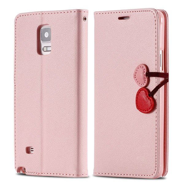 Heart Buckle Full Cover For Samsung Galaxy Note 4 N9100 Phone Case 32242191249-6-pink