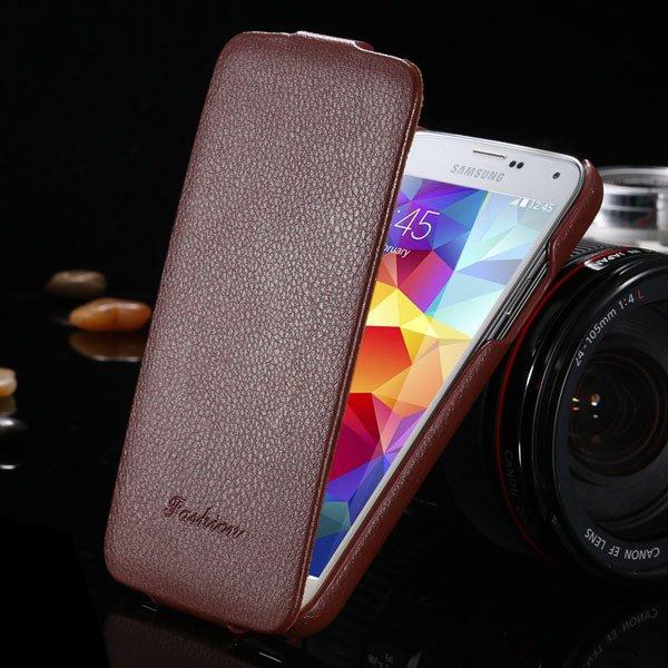 Top Quality Genuine Case For Samsung Galaxy S5 Sv I9600 Lytchi Gra 1893525510-5-brown