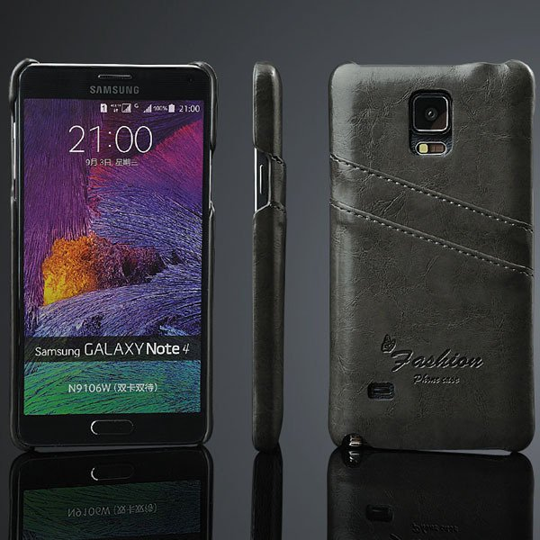 Note 4 Card Insert Back Cover For Samsung Galaxy Note 4 Iv N9100 V 32281407270-2-black